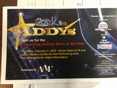 Rock the ADDYs 2013 Submitted to TV Station!
