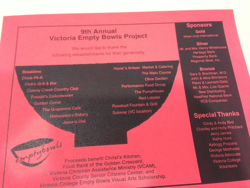 2013 Empty Bowls Project